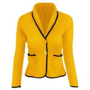 2020 Novo Design Mulheres Spring Casual fina camada Blazer Summer Fashion Ladies 2 Botão Ternos curto europeu fêmea que trabalha Ternos Coats
