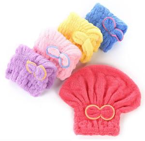 다채로운 샤워 캡 포장 타월 마이크로 화이버 욕실 모자 솔리드 극상 신속하게 건조 머리 모자 목욕 액세서리