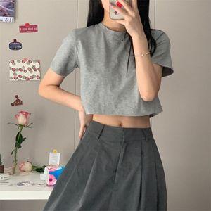 In Super-Feuer reine Farbe kurze Jacke weibliches dünnen kleine intriganten ins Gezeiten kurzärmelige Sleeve Clip Short Rock Rock-T-Shirt