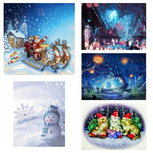 5D DIY Unframed Diamante Pintura Cross Stitch Kit completa Redonda Resina diamante coberto Paint by Kits Número