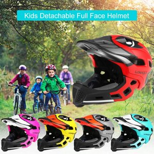 Lixada Kids Detachable Full Face Helmet Cartoon Print Children Sports Safety Helmet for Cycling Skateboarding Roller Skating