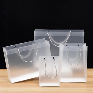 بولي كلوريد الفينيل حقيبة يد الإعلان هدية حقيبة تسوق PP حقيبة شفافة بلاستيكية بلاستيكية