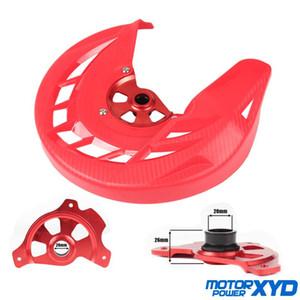 Motosiklet Ön Fren Disk Rotor Guard Kapak Koruyucu için CR125 CR250 04-07 CRF250R CRF450R 04-16 MX Motokros Offroad