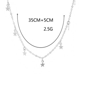 Popular style, simple and thickened Pentagram Star Pendant Necklace, exquisite gold-plated female jewelry, free shipping wholesale