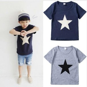 2019 New Toddler Kids Boys Cotton T-Shirt Short Sleeve Shirts Children Tops Clothes SIZE 2-5 YEARS
