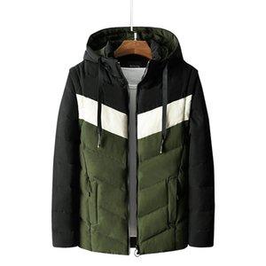 XQS Mens Cotton Jackets Winter Warm Hood Coats Fleece Windbreaker