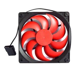 4 핀 포트 12CM 섀시 컴퓨터 케이스 음소거 나사와 냉각 팬