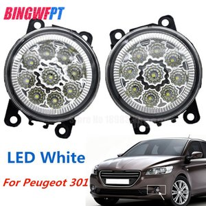 2 STÜCKE LED Nebelscheinwerfer Für Peugeot 301 2013-2017 Auto Styling Runde Stoßstange Halogen nebelscheinwerfer