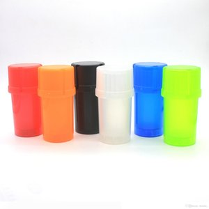 Renkli 3 Parça Fincan Şekli 47mm Plastik Bitkisel Öğütücü Baharat Miller Kırıcı Yüksek Kalite Güzel Eşsiz Tasarım Çoklu Renkler Şişe