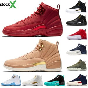 Winterize 12 Gym Red 12s College Navy Men Basketball Shoes Michigan WINGS Bulls Flu Game Black White Taxi Sports Trainer Sneaker 40-47