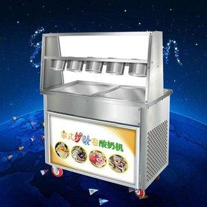 satılık Fried yoğurt makinesi ticari gelişmiş kızarmış dondurma rulo makinesi Tay kızarmış dondurma makinesi fiyat