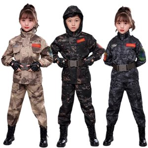 Children Special Force Kids Military Uniform Officer Girl Boy Army Cotton Tactical Cosplay Costume Carnival Party Chinese Police