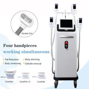 High End Fat Einfrieren Abnehmen Maschine Cryolipolysis Einfrieren hartnäckige Fett Buldges 4 Griffe Professionelle Kryotherapie-Maschine Lose Weight