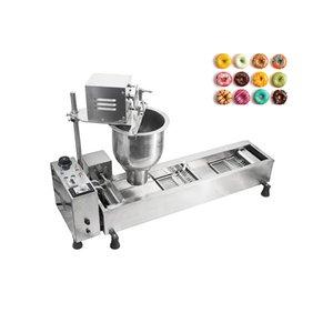 Düşük maliyetli paslanmaz çelik gövde 220V otomatik kızarmış çörek makinesi 7L büyük hazne ile, kalıpların üç set, uygun fiyatlı.