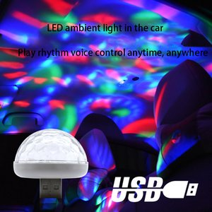 Lampada da discoteca USB, luci di partito Sound attivato, Halloween DJ Disco Dco Fase Lights-Multi Colors LED Atmosphere Atmosphere, A09