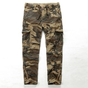 Men's Camouflage Pants Fashion Loose Cargo Pants Cotton Men Casual Trousers Spring Autumn Mens Plus Size 42 Male Bottoms