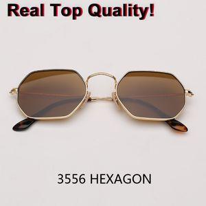 Реальные стеклянные линзы металлические шестиугольные солнцезащитные очки мужчины womne hot HD ретро круглые солнцезащитные очки 3556 плоские очки Gafas Oculos de sol gafas