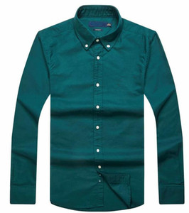 Haut Nouvelles ventes coutumes célèbres fit Chemises sport populaires de broderie de cheval Polo à manches longues pour hommes Vêtements 11 couleurs