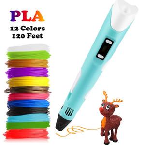 التعليم Dikale 3D الطباعة القلم DIY 3D قلم رصاص 3D رسم القلم STIFT PLA الشعيرة لكيد الطفل الإبداعية اللعب هدايا عيد الميلاد Y200428