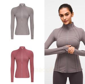 Femmes YGA Slim transparente veste de courseLululemonlulu-78 Gym lu manches longues Fitness Workout rapide élastique sec Sport Zippered 5a49 #