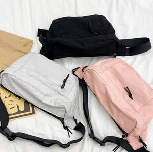 Ins Fashion Women Waist Bag Nylon Large Capacity Man Chest Bag Plain Shoulder Bags Crossbody Totes
