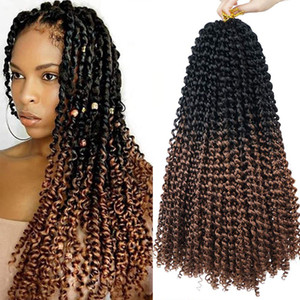 Ombre 1B 30 Water Wave Crochet Braids 18 Inch 5 Packs Passion Twist Hair made with high quality low temperature Kanekalon Extensions