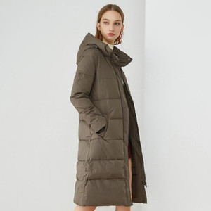 New fashion brand 90% white duck down hooded Coats Women Warm thick jackets windproof warm long jackets wq534