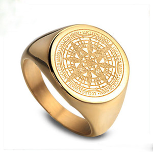 Herrenschmuck Ringe Hip Hop Designer Ring Herren Love Gold Ring Verlobungsmeisterschaft Ringe Vintage Kompass Rapper Mode Accessoires