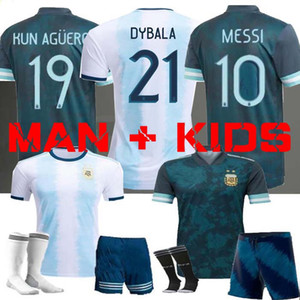 2020 maillots de football Copa America ARGENTINE loin Messi HIGUAIN ICARDI 19 20 AGUERO KUN Hommes enfants camisetas futbol MARADONA MAILLOT DE FOOT