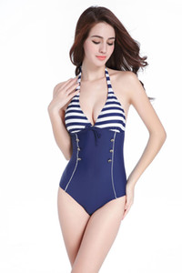 New dESIGN Women's Halter Neck One-piece Bikini Swimsuits with Pad