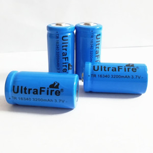 The 16340 lithium battery blue 3200MAH 3.7v used for electronic products such as bright flashlight laser pen book sales pen and so on