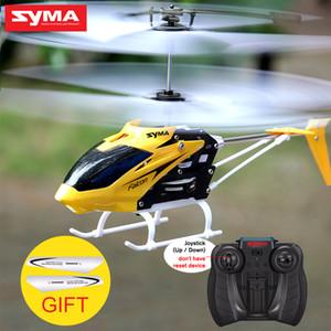 Syma W25 RC Helicopter 2 CH 2 Canal Mini RC Drone Com Gyro Bater resistente RC brinquedos para menino caçoa o presente Vermelho Amarelo