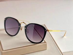 0014 occhiali da sole di marca di modo di nuovo delle donne piatto di combinazione telaio in metallo Occhiali atmosfera stile semplice superiore Eyewear UV400 Protection
