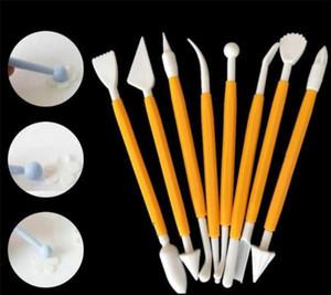 Kuchen carvel Dekorieren Blume Fondant modelliert Fertigkeit-Lehm Sugarcraft Werkzeug Cutter Satz von 8 Stück