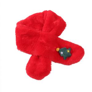 20 Farben Winter Kinderhalstuch Jungen-Mädchen-Baby-Schal Baumwolle Babyzubehör verdickte Schal Warmer Schal Weihnachtsweihnachts