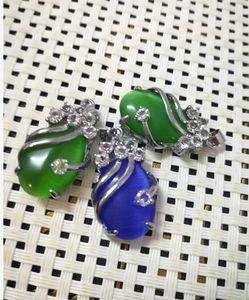 Collier Emerald goutte émeraude femelle pendant la livraison gratuite A2