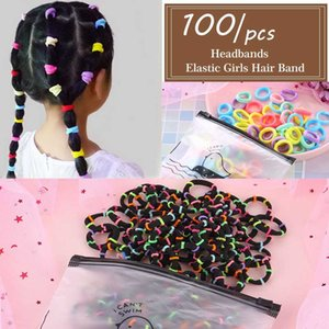IFMIA New 100 Pcs Baby Child Colorful Elastic Hair Band Girl Kid Rope Ring Headband Rubber Ponytail Holder Accessories Children