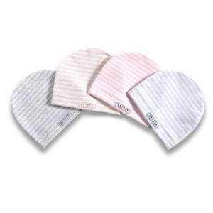 4 Adet / set Bebek Çocuk Cap Yumuşak Pamuk Kız Erkek Şapka Basit Stripes Yenidoğan Bebekler Doğum Şapkalar Hediyeler Sombrero de bebé