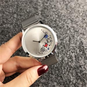 senhoras moda de alta qualidade assistir ROYAL OAK ocasional TH relógio de quartzo gráfico floral malha 2140TM frete grátis
