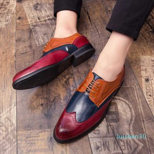 Big Size 39-47 Men Leather Loafers Brand Shoes Classic Tassel Brogue Mans Footwear Formal Shoes Casual Bullock l30