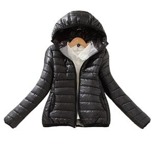 Sıcak Kış Parka Ceket Kaban Bayan Kadın Ceket İnce Kısa yastıklı Kadınlar 6 renk baskı Ücretsiz Kargo Yükseltme