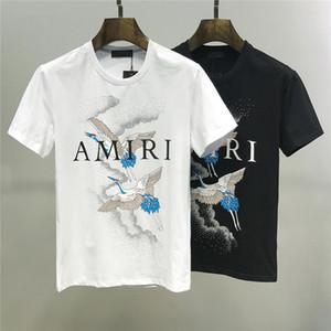 2019 Trendy T-Shirt Art und Weise neuen Rundhals schwarz und weiß Casual wilde Modelle T Shirts Pop-T-Shirt Mann Baumwollbeiläufigen M-3XL