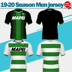 Sassuolo Ev siyah yeşil Futbol Formalar 19/20 9. CAPUTO # 25 BERARDI uzakta beyaz yeşil 2020 futbol Gömlek Yetişkin futbol Üniformalar