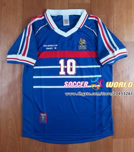 Retro 1998 ZIDANE HENRY Abidal Vieira Ribery MAILLOT DE PÉ 98 uniformes Football Jerseys tamanho da camisa France Futebol S-XXL