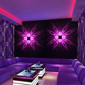 Wall Mounted Lâmpada LED Wall Indoor Projeção LED iluminação colorida Mural Luminaire fundo claro parede para Home Hotel KTV Bar