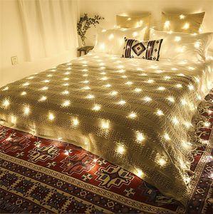 Noel LED Net Işık 400LED 3 mx 3 m AC220V 110 V LED Noel Ağacı Işıkları Dekorasyon Noel Düğün Için RGB / Mavi / Beyaz / Sıcak beyaz