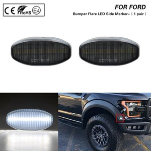Para F150 SVT Raptor 2010-2014 Smoke lens White light Front Bumper Breaker Side Marker Lamp 2X