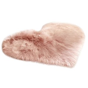 Imitation Sheepskin Rugs Faux Fur Non Slip Bedroom Shaggy Carpet Living Room Mats Kitchen Rugs Round Rug Carpets