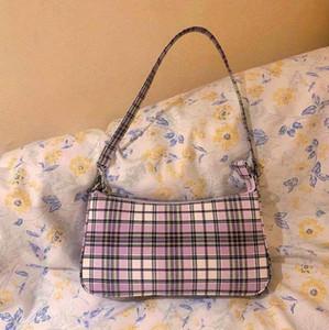 Underarm Bag Designer de luxo Bolsas Bolsas Bolsa de Ombro Retro Mulheres Baguette clássico Marca bloqueio selvagem Verifique Handbag