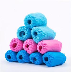 Stivali Shoes Covers tessuto monouso Overshoes coperta del pavimento di moquette blu tessuto non tessuto della copertura del pattino a gettare Galosh WY615Q